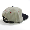 Made in USA Adjustable White and Navy Contrast Wool Ball Cap by Cooperstown Cap Co for Spikes High, back detail