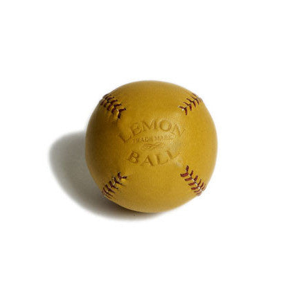 LEMON BALL™ Tan Leather Red Stitch Baseball