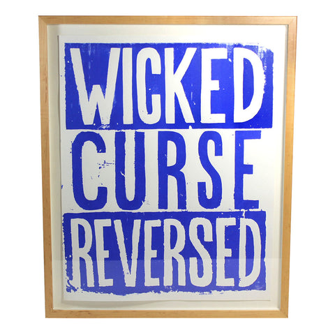 "Jonas Wood ""Wicked Curse Reversed"" Framed Print"