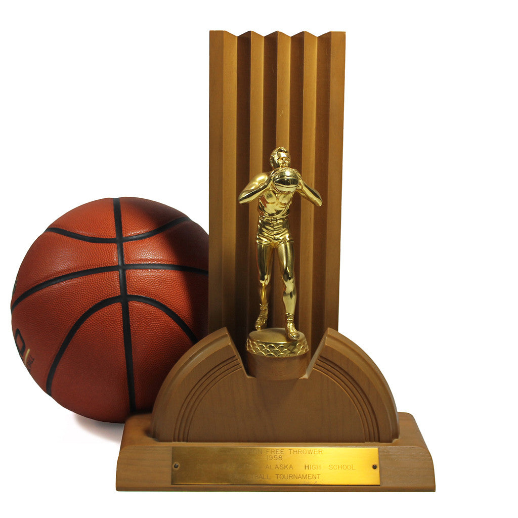 Mid-Century Basketball Trophy, HUGE