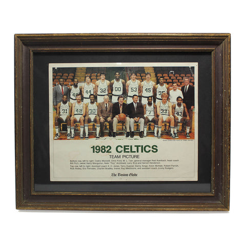 1982 Boston Celtics Team Photo in Vintage Frame