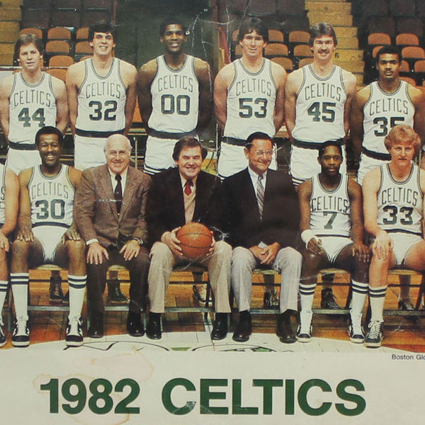 1982 Boston Celtics Team Photo In Vintage Frame Spikes