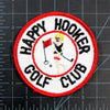 Vintage Happy Hookers Golf Patch with measurements
