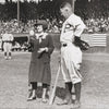Framed Original Vintage Photograph Print of Jim Thorpe while with the Portland Beavers, detail.