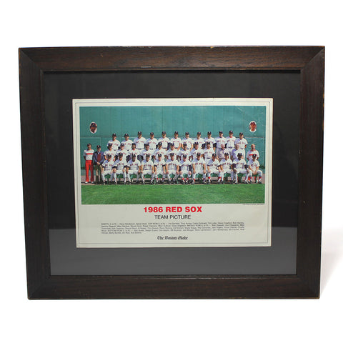 1986 Red Sox Team Photo in Vintage Frame