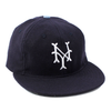 "NYC ""Soccer Time!"" Made in USA Fitted Ball Cap by Cooperstown Cap Co for Spikes High, 3/4"