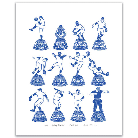 Left Field Cards Starting Line-Up Print