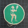 Vintage Tennis Patch with measurements