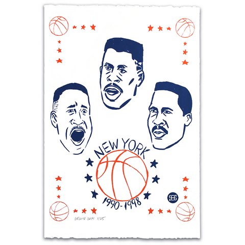 "Nathan Gelgud ""The New York Three"" Silkscreen Print"