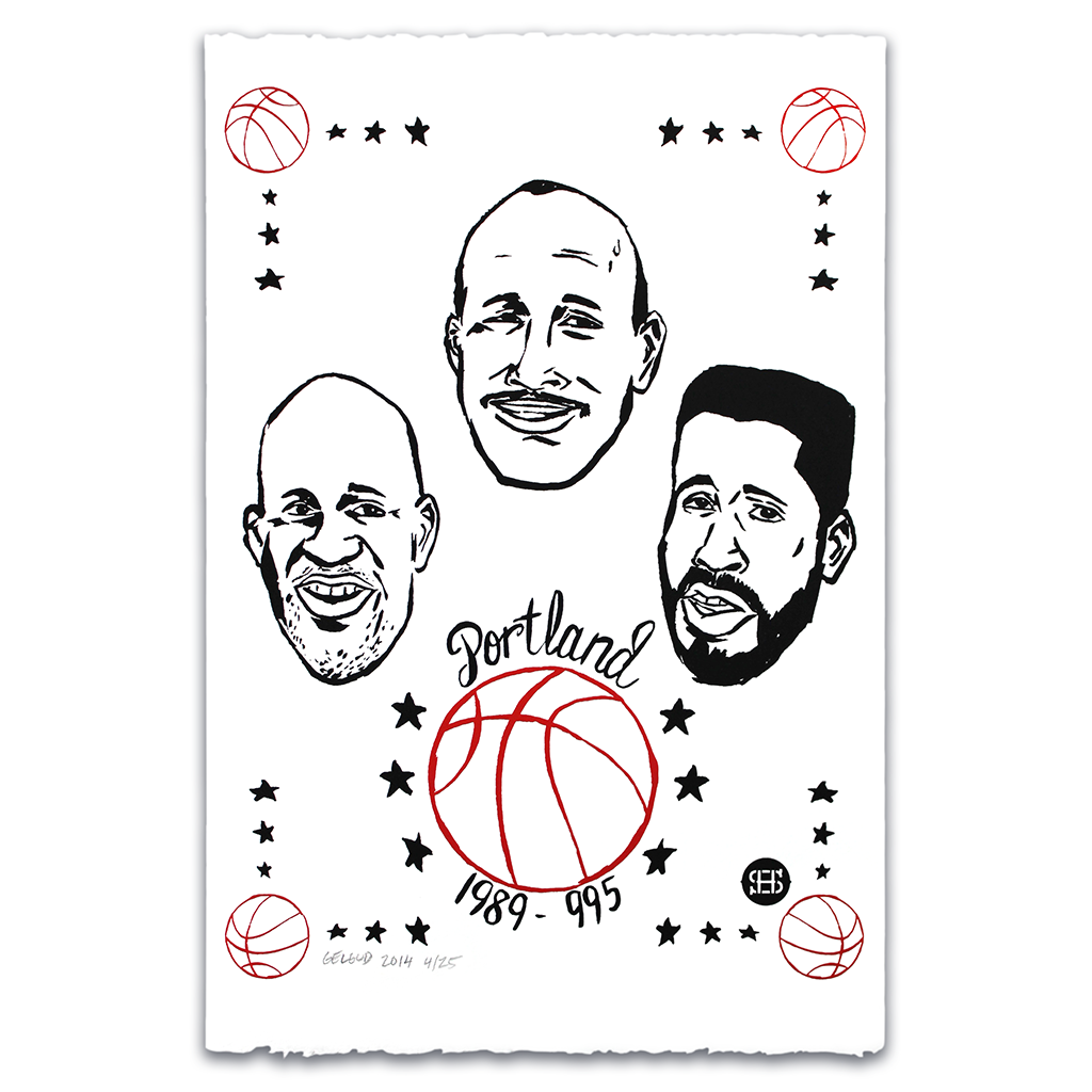 """The Portland Three"" limited edition silkscreen print by Nathan Geldud for Spikes High"