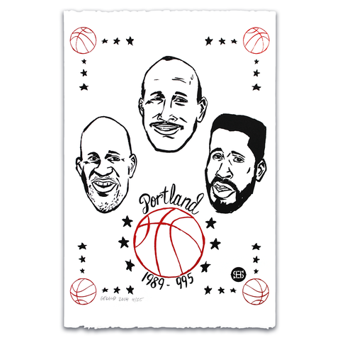 "Nathan Gelgud ""The Portland Three"" Silkscreen Print"