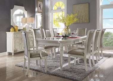 Splendid Dining Table, Antique White