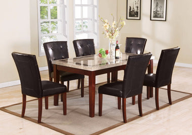 Graceful Rectangular Dining Table, Brown
