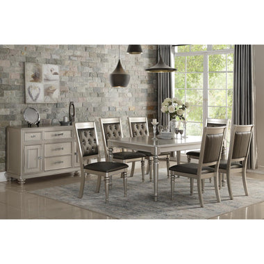 Rubber Wood Dining Table Silver