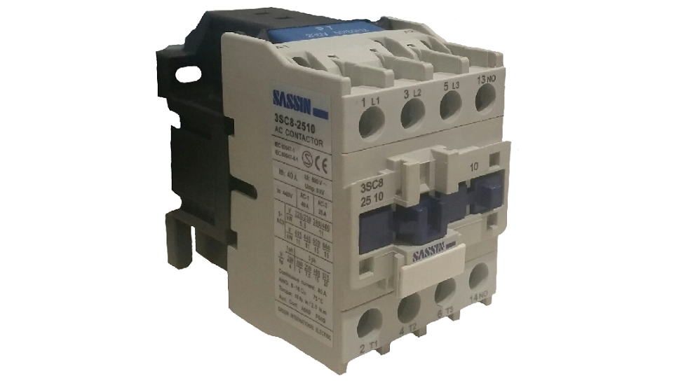 SASSIN 25A 3P+1N/O 230V COIL CONTACTOR