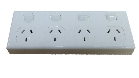 FOUR GANG HORIZONTAL OUTLET
