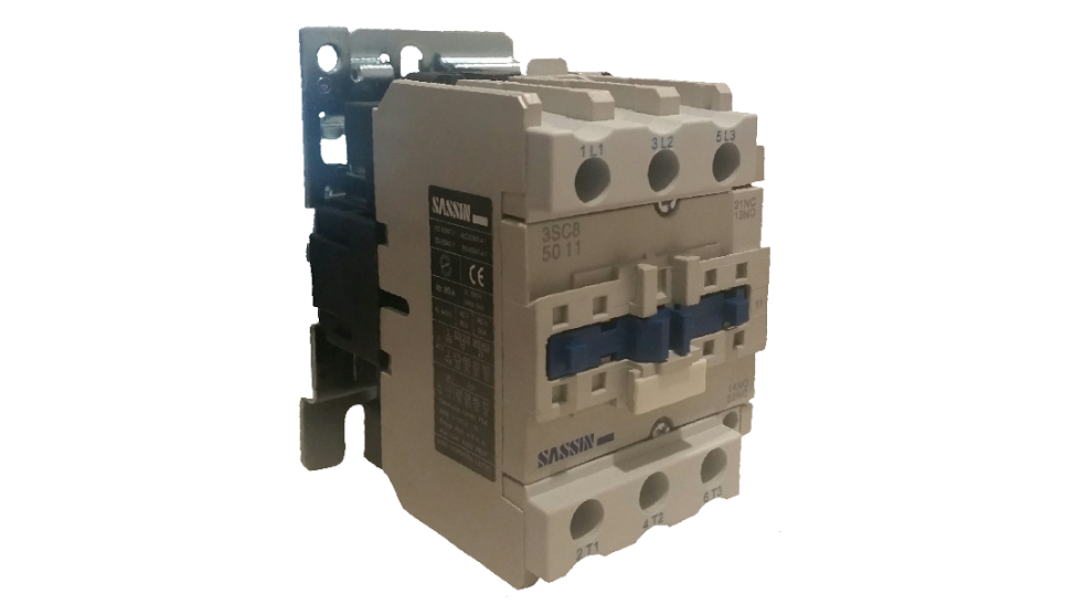 SASSIN 50A 3P+1N/O 415V COIL CONTACTOR