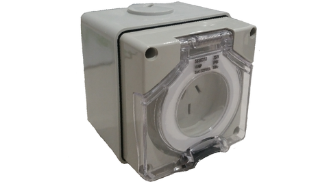 IP56 SOCKET OUTLET 3 PIN 10A (with Back Box)