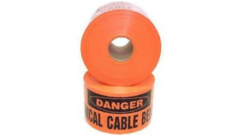 ELECTRICAL CABLE BURIED BELOW TAPE  - 100M ORANGE/BLACK