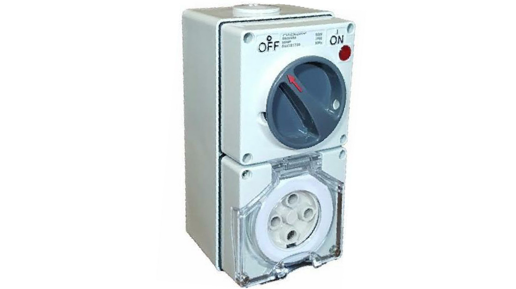 COMBINATION SWITCHED SOCKET OUTLET 32A 4 PIN (with back box)