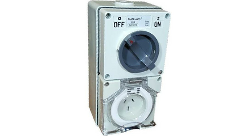 COMBINATION SWITCHED SOCKET OUTLET 15A 3 PIN (with back box)