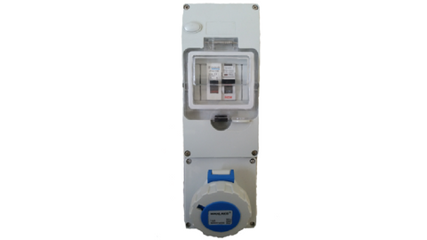 IP56 16A RCBO PROTECTED CARAVAN SUPPLY BOX (with back box)