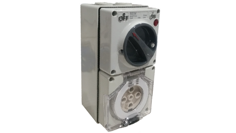 COMBINATION SWITCHED SOCKET OUTLET 40A 5 PIN (with back box)