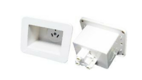 DYNAMIX RECESSED SINGLE POWER OUTLET