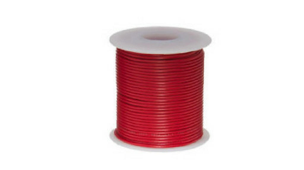 1.0MM RED / BLUE / WHITE / BLACK / YELLOW / GREY / ORANGE / PINK APPLIANCE WIRE - 100M ROLL