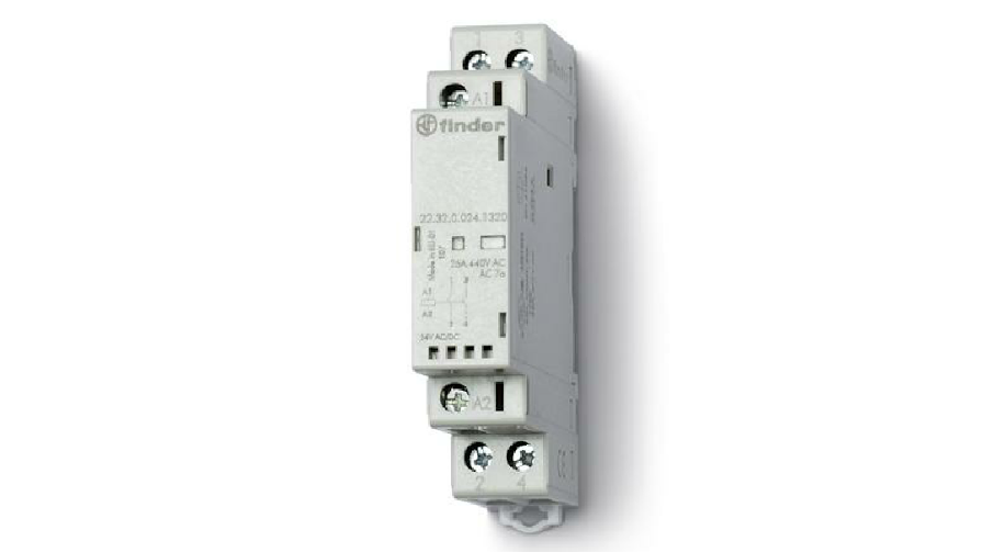 FINDER 25A 2N/O 230V DIN RAIL MOUNT CONTACTOR