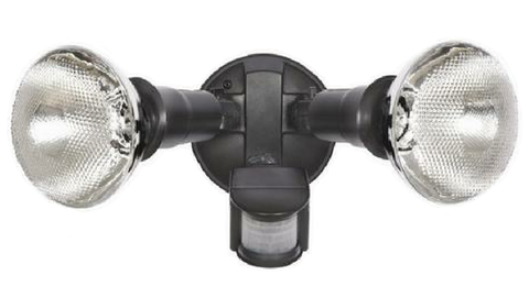 HPM TWIN PAR38 SENSOR LIGHT BLACK