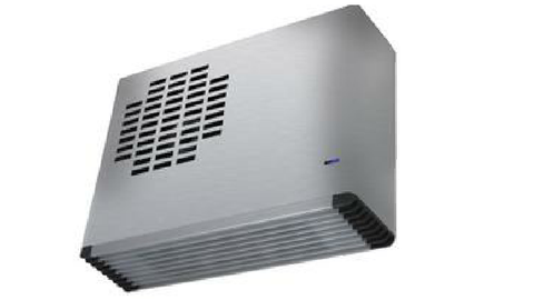 WEISS WALL MOUNTED 2.4KW FAN HEATER STAINLESS STEEL