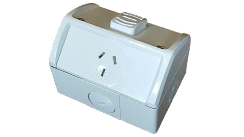 IP53 SINGLE SOCKET OUTLET 15A