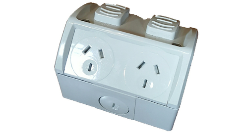 IP53 DOUBLE SOCKET OUTLET 10A