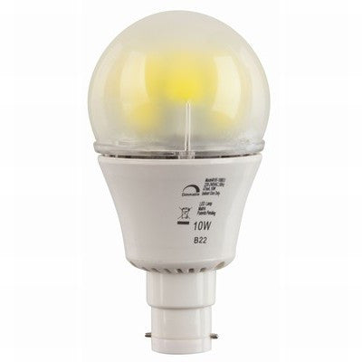 10W LED DIMMABLE BC LAMP - WARM WHITE
