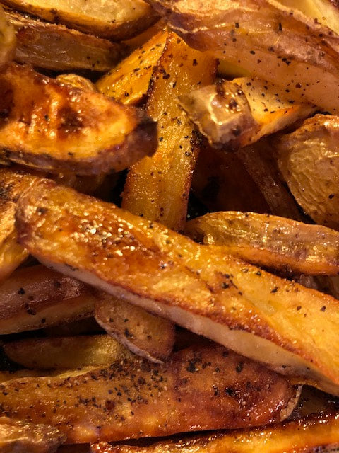 Another great way to use CGD Original or Spicy - Fantastic Oven Baked Fries. 2 Ingredients...Potatoes & CGD