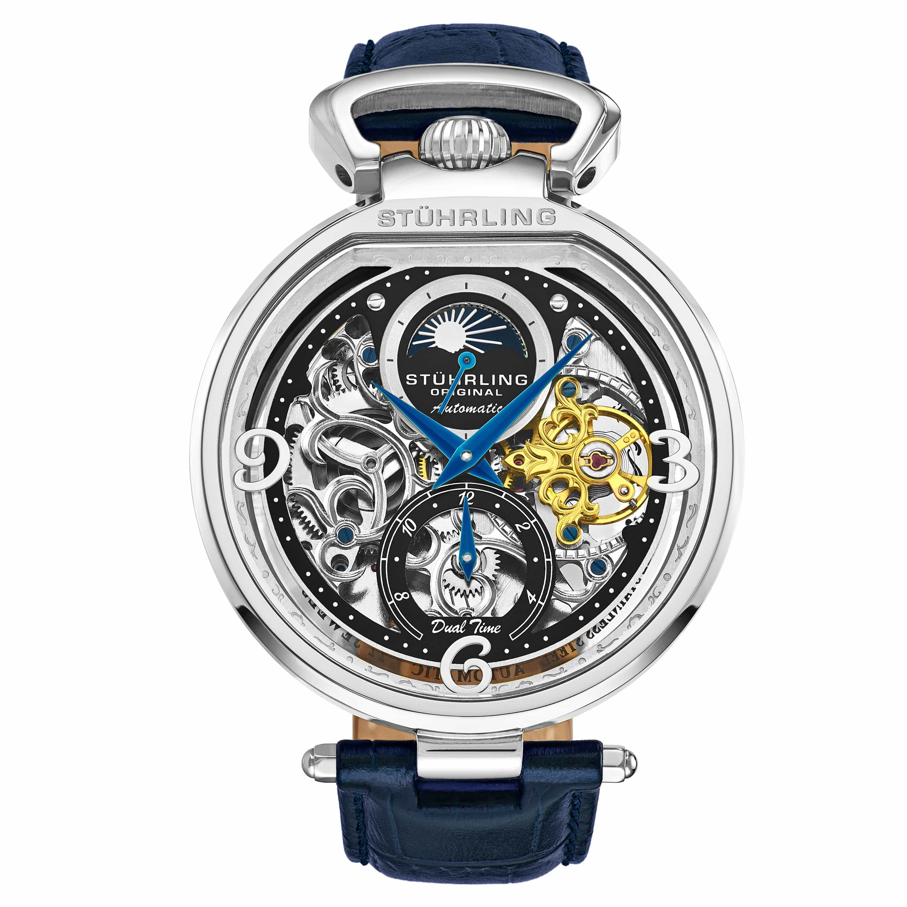 Modena 3954 Dual Time Automatic 46mm Skeleton
