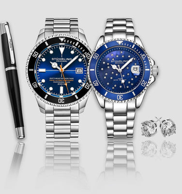 Depthmaster Heritage 883H.03, StarSea 3977.3 with Signature Pen and Stud Earring is $127 (29% off)