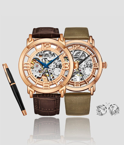Elegant Men's and Women's Winchester Automatic Set includes a Free Signature Pen and Stud Earrings