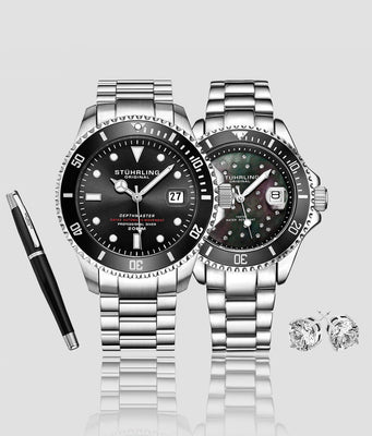 Classic Couple Diver Set with Signature Pen and Stud Earring is $127 (34% off)