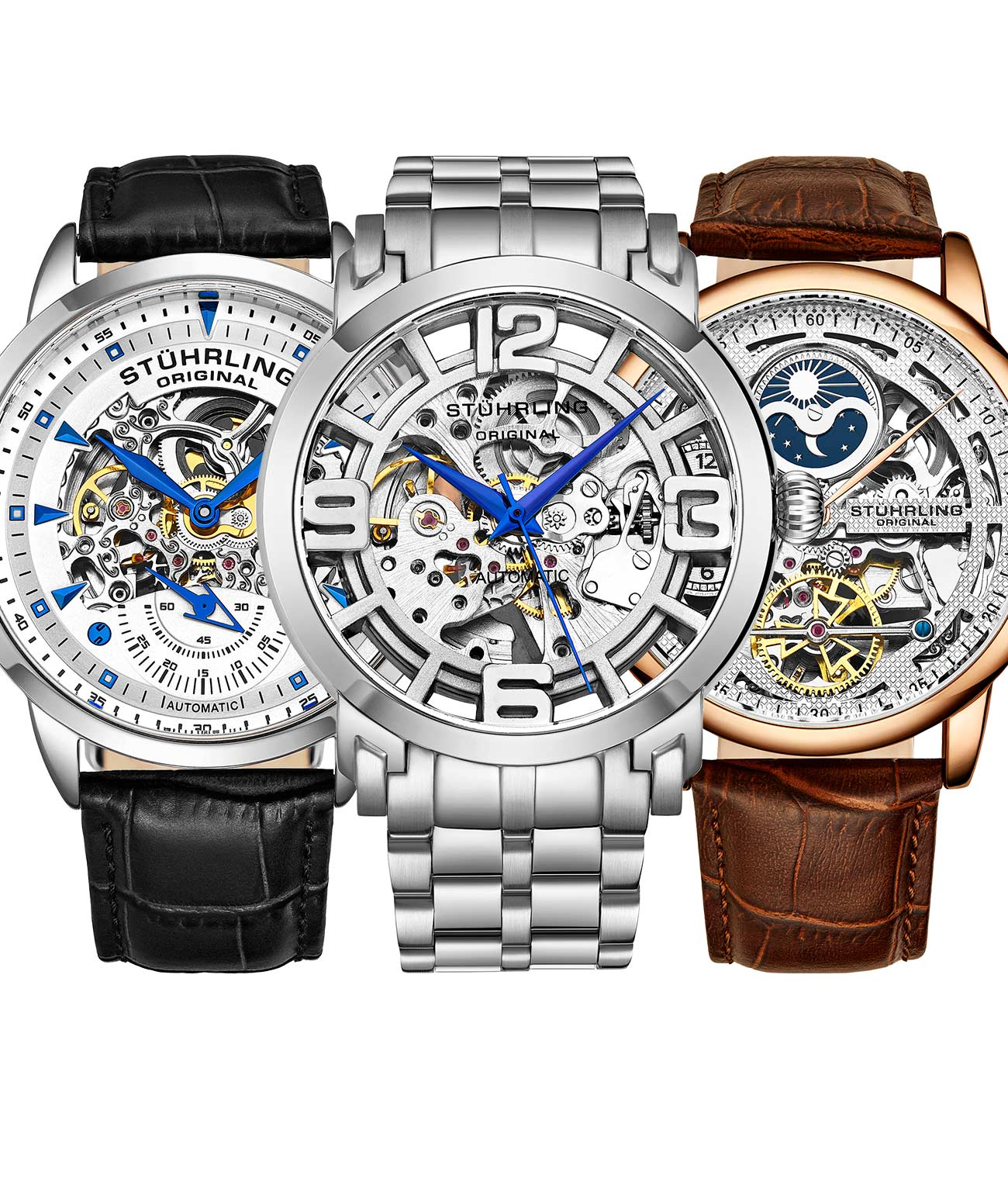 Triple Set Skeleton-Pack Designed to Suit Every Aspect of Your Life, matched with a 10 slot Traveling Watch Case