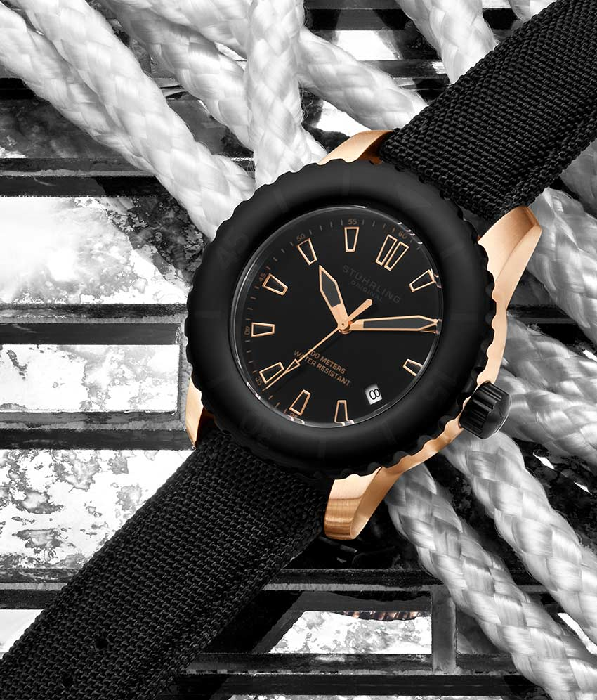 Black Dial / Rose Case / Black Band