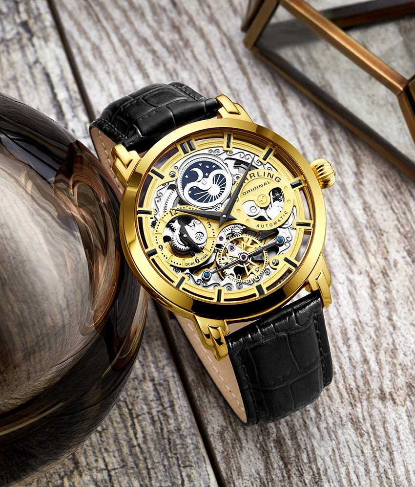 Gold Dial / Gold Case / Black Band