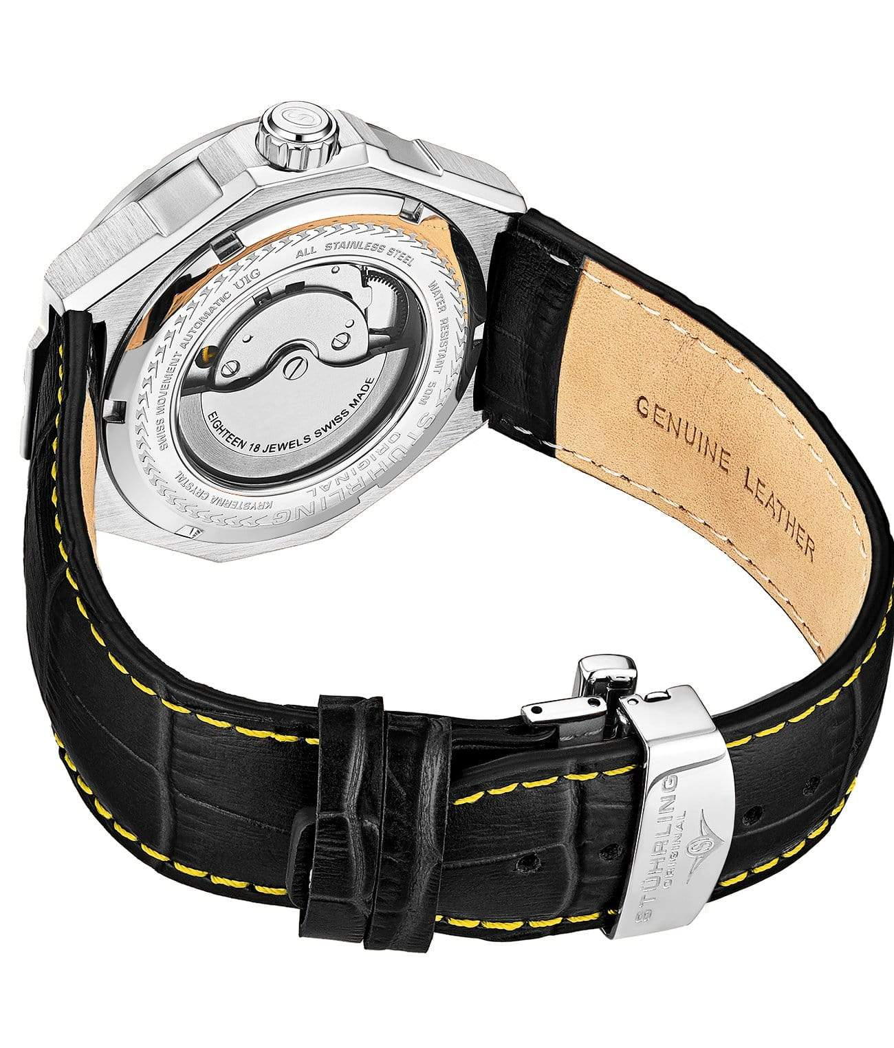Yellow Dial / Silver Case / Black Band