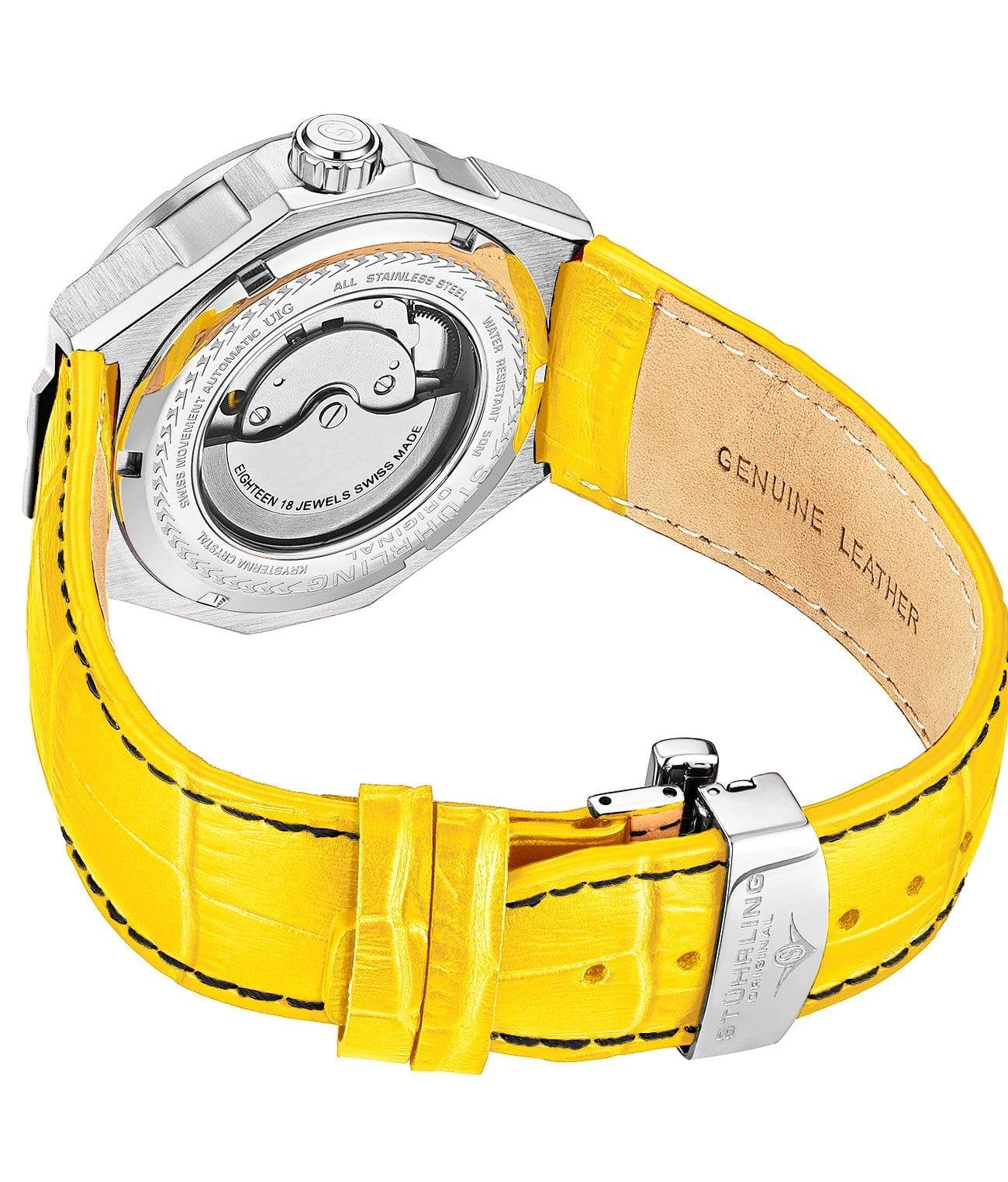 Yellow Dial / Silver Case / Yellow Band