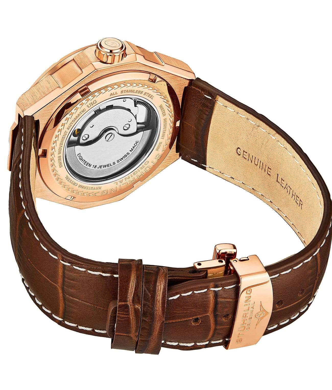 Brown Dial / Rose Case / Brown Band