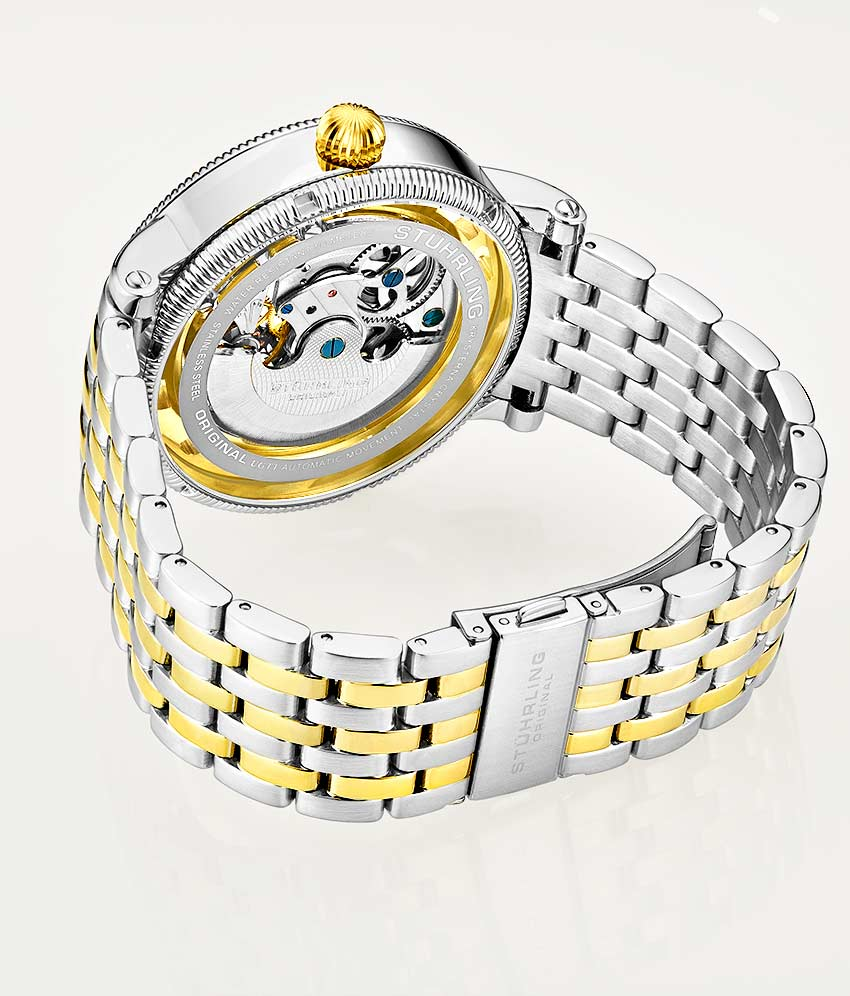 Gold Dial / Silver Case / Gold Band
