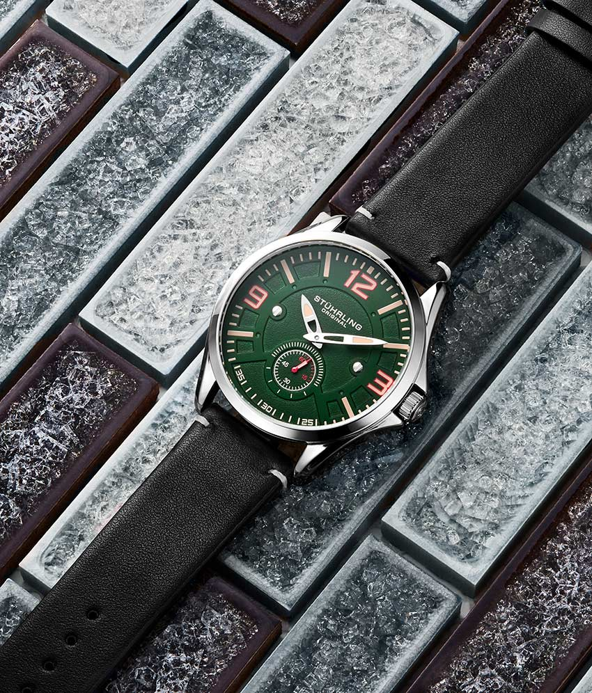 Green Dial / Silver Case / Black Band