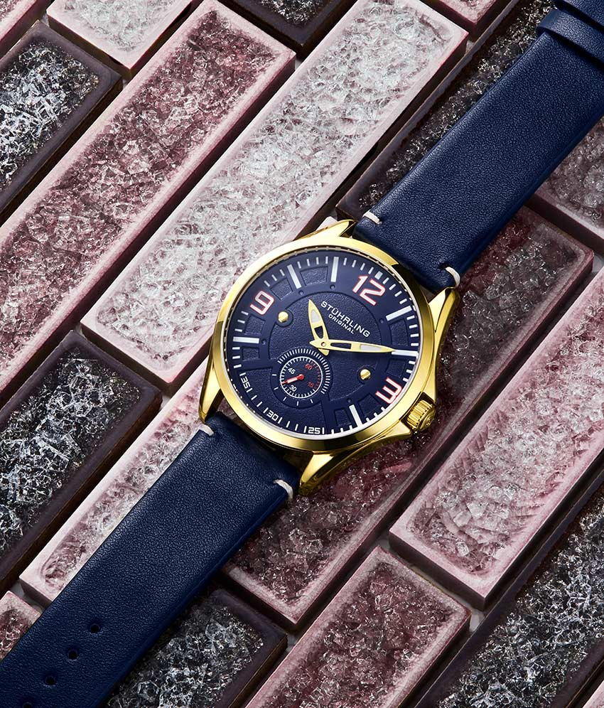 Blue Dial / Gold Case / Blue Band