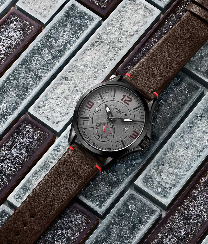 Gun Metal Grey Dial / Black Case / Dark Brown Band